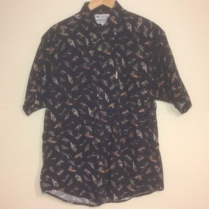Columbia button up fly shirt